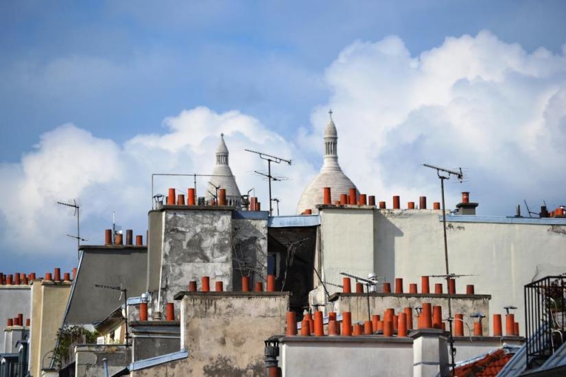 Paris rooftops, Haiku