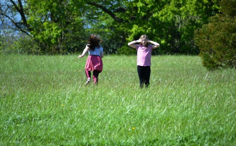Girls, Meadow, Haiku