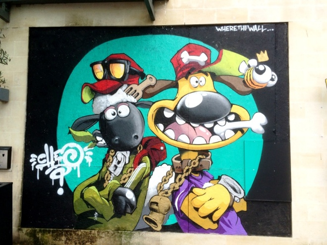 Cheo, Shaun the Sheep, Broad Quay, Bristol, July 2015