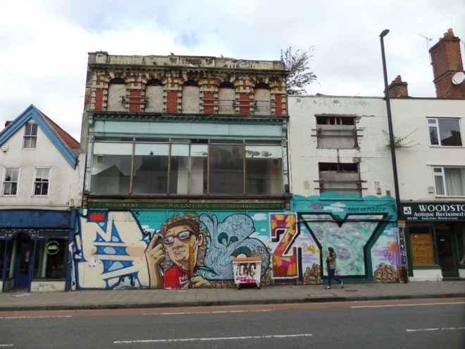 Jon5, Silent Hobo, Sepr, Deamze and Dotcom, Stokes Croft, Bristol, September 2015