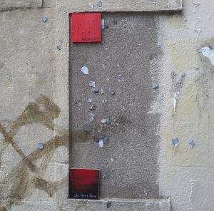 Love tokens on Ward Street, Bristol