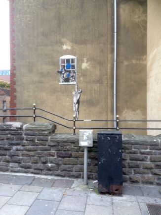 Banksy, Frogmore Street, from Park Street, Bristol