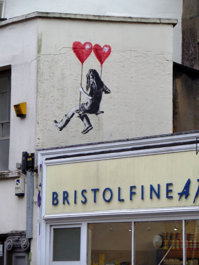 JPS, Girl on swing, Park Row, Bristol, November 2015