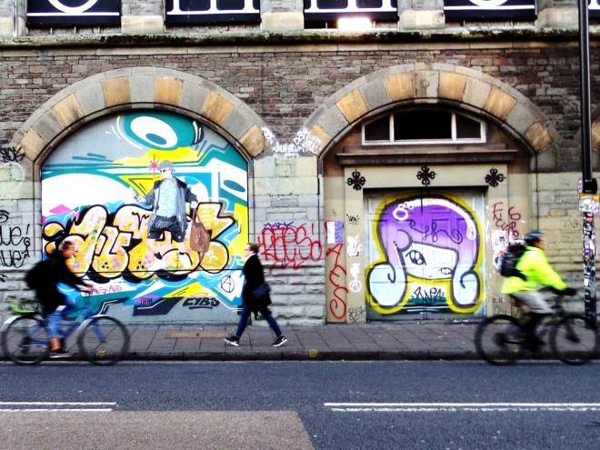 Hoax, Face F1st, Stokes Croft, Bristol, October 2015