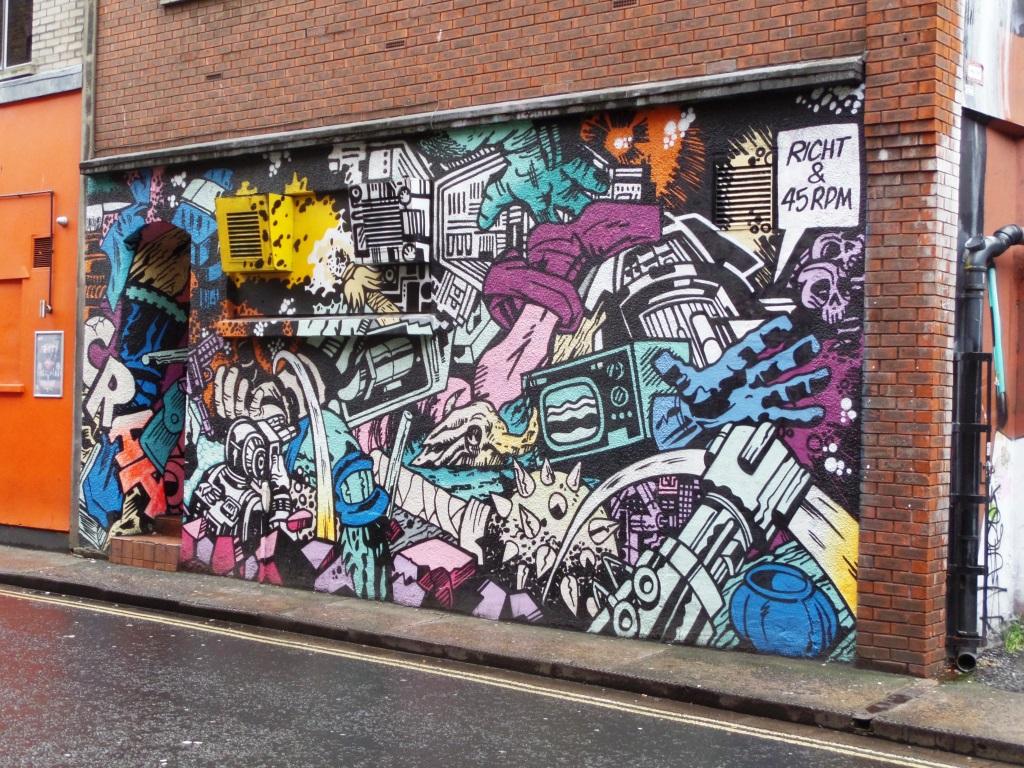 Richt and 45RPM, Frogmore Street, Bristol, November 2015