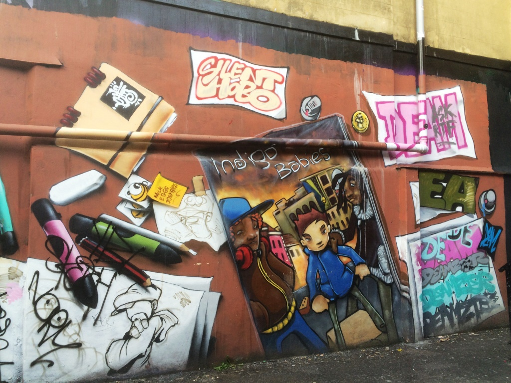 Cheo Silent Hobo and Deamze, Frogmore Street, Bristol, July 2015