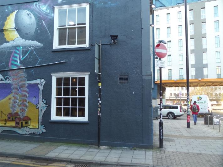 Blank wall, Moon Street, Bristol, January 2016