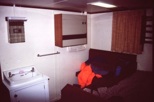 My cabin on the Falkland Desire