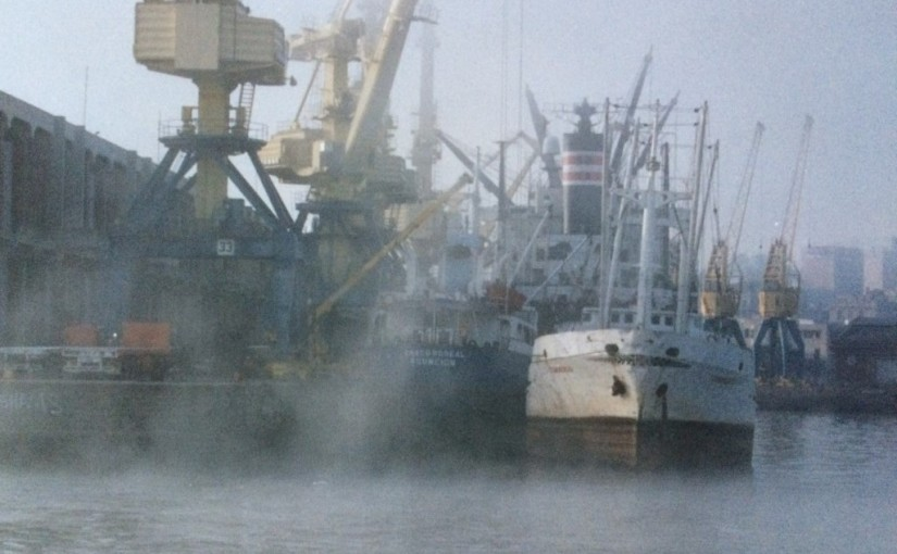 The docks of Montevideo, May 1988