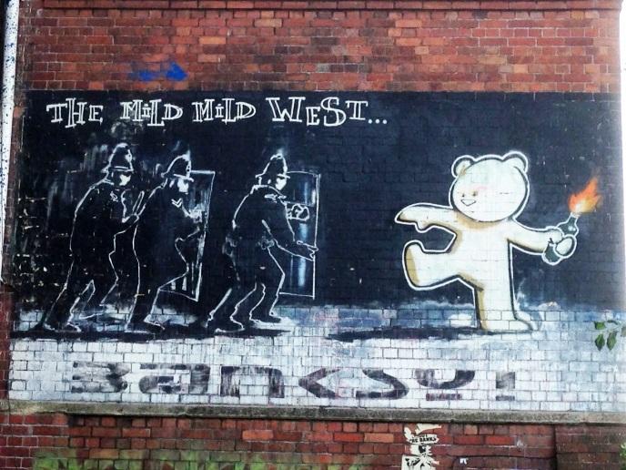 Banksy, Stokes Croft, Bristol, July 2015