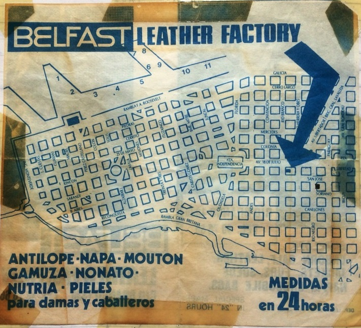 Belfast Leather Factory, the place for leather jackets. Montevideo June 1988