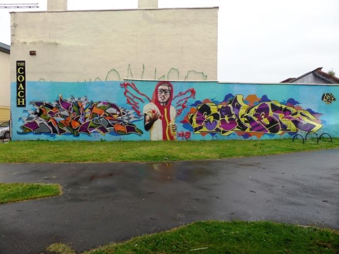 Deamze, Voyder and Soker, Lawfords Gate, Bristol, June 2016