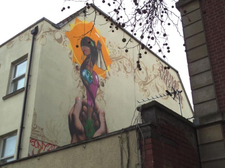 3Dom and Voyder, Stokes Croft, Bristol, December 2016