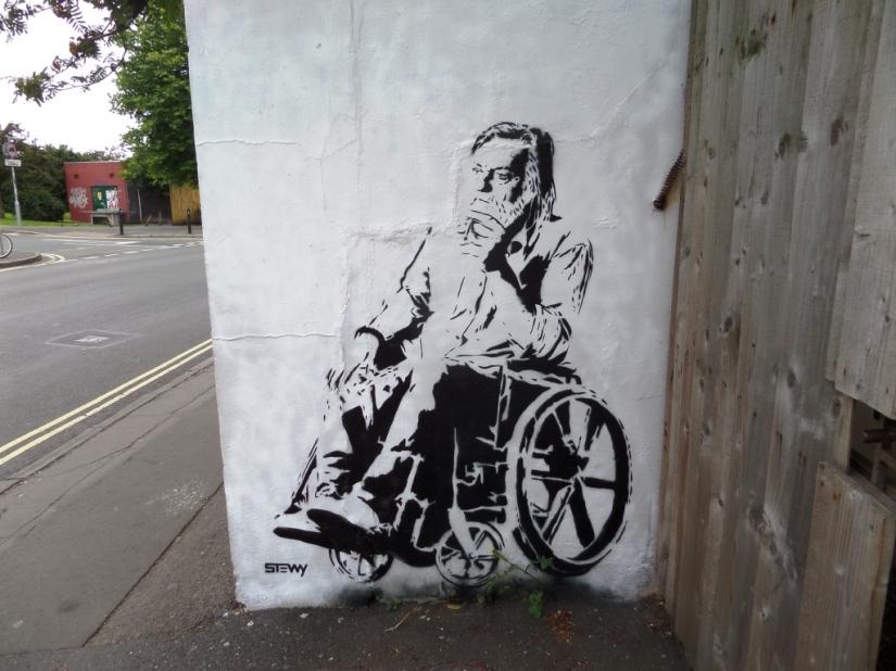 Stewy (Robert Wyatt), North Street, Bristol, July 2016