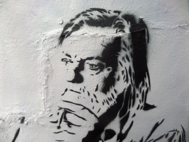 Stewy (Robert Wyatt), North Street, Bristol, July 2016