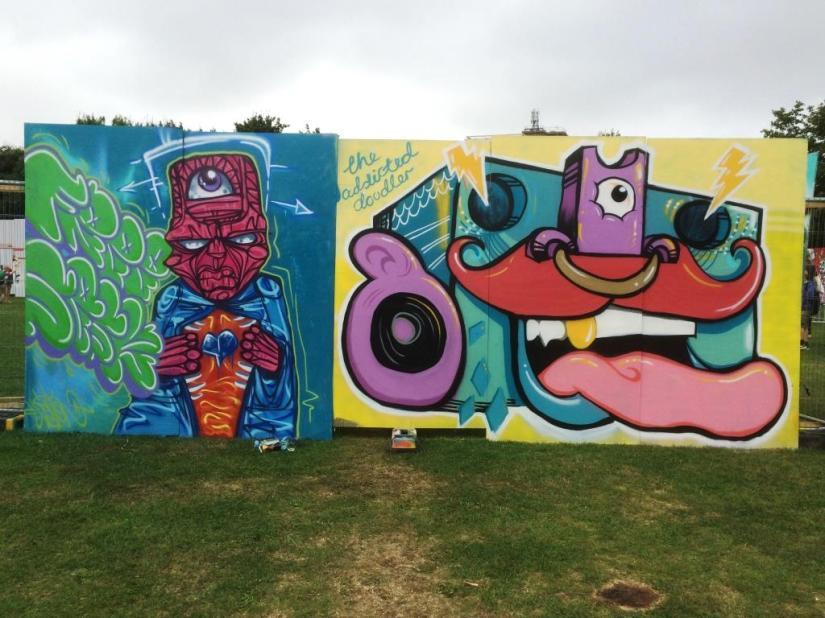 The Addicted Doodler, Upfest, Bristol, July 2016