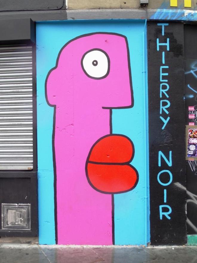Thierry Noir, Cowper Street, London, August 2016
