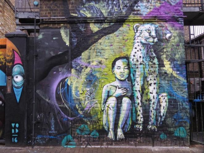 Alice Pasquini, Hawley Mews, Camden Town, September 2016
