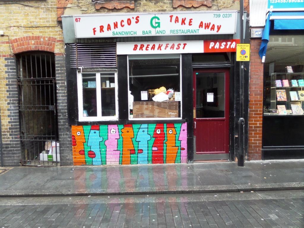 Thierry Noir, Rivington Street, London, August 2016