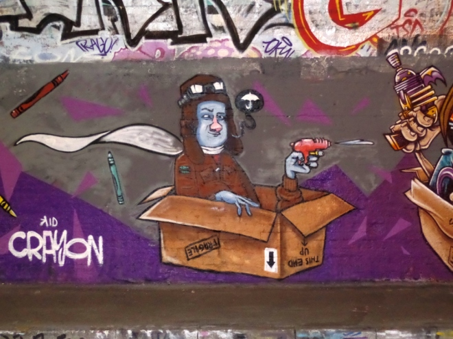 Kid Crayon, St Werberghs tunnel, Bristol, June 2016