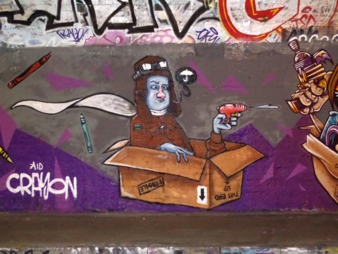 Kid Crayon, St Werberghs tunnel, Bristol, June 2016