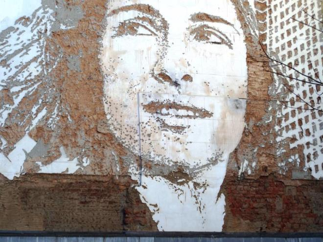 Vhils , High Street, Exeter, January 2016
