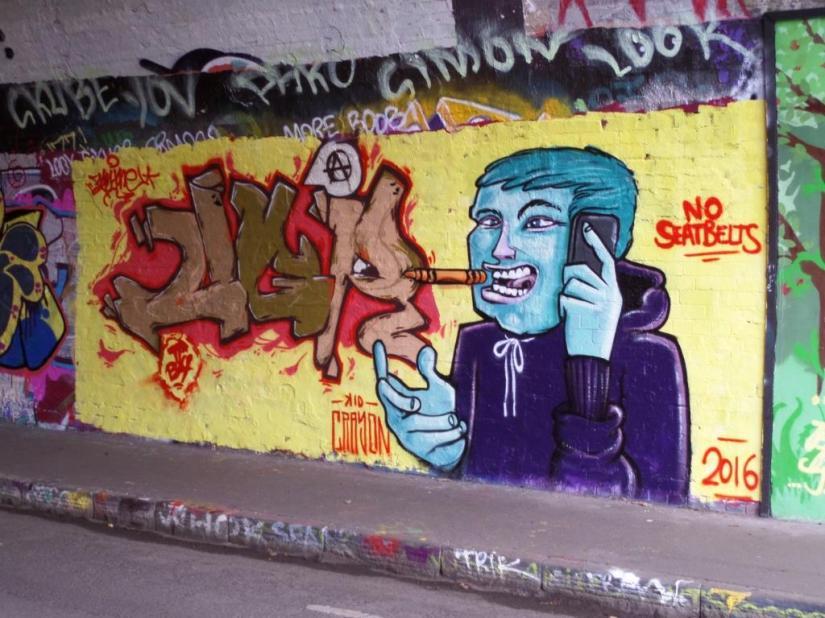 Kid Crayon, St Werburghs Tunnel, Bristol, December 2016