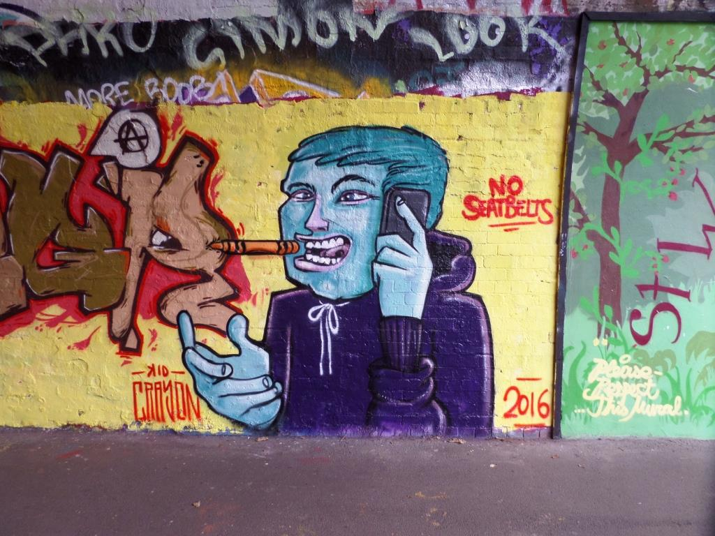 Kid Crayon, St Werburghs Tunnel, Bristol, December 2016