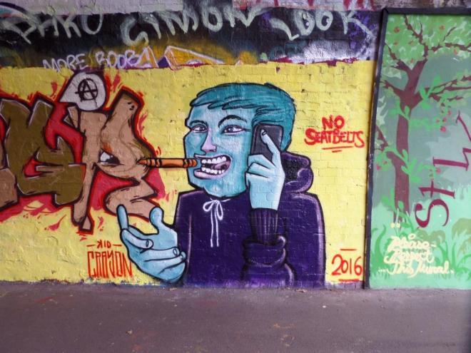 Kid Crayon, St Werberghs Tunnel, Bristol, December 2016