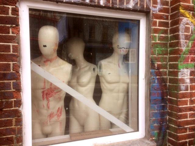 Mannequins, refugees, haiku