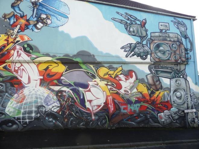 FLX, 3Dom, Epok, Soker, Sepr, Horley Road, Bristol, October 2016