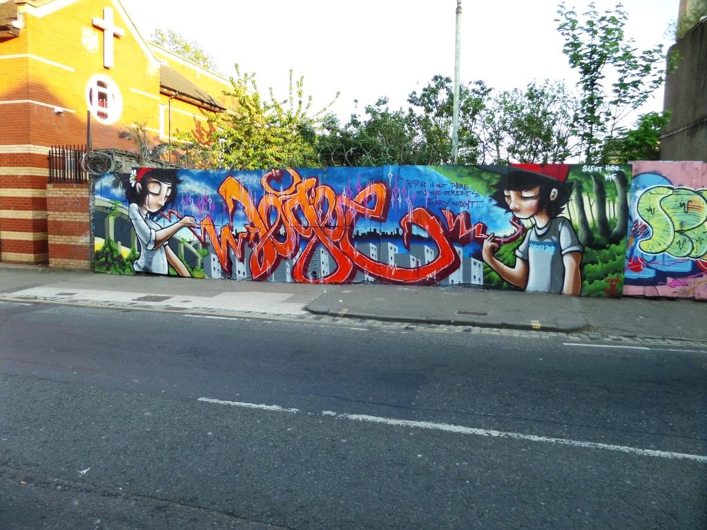 Silent Hobo and Logoe, Ashley Road, Bristol, April 2017