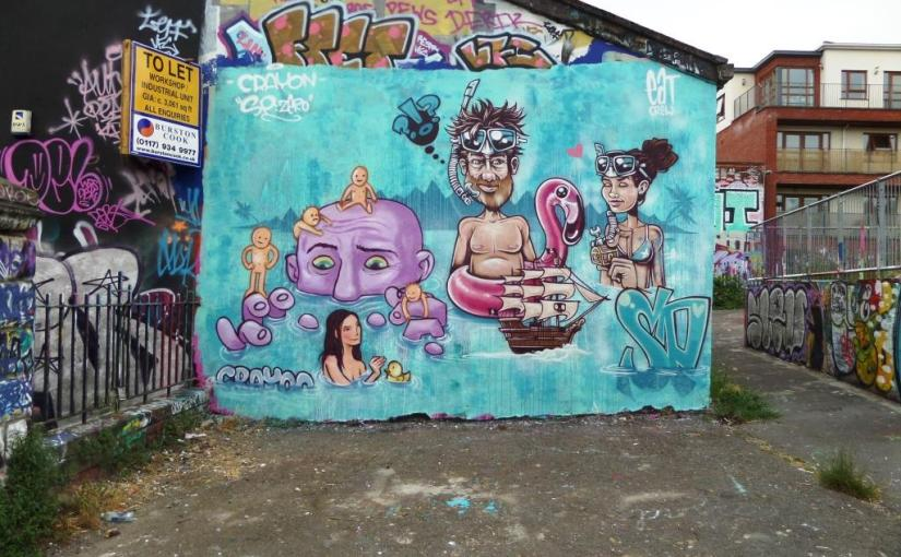 Kid Crayon and SPZero, Dean Lane, Bristol, June 2017