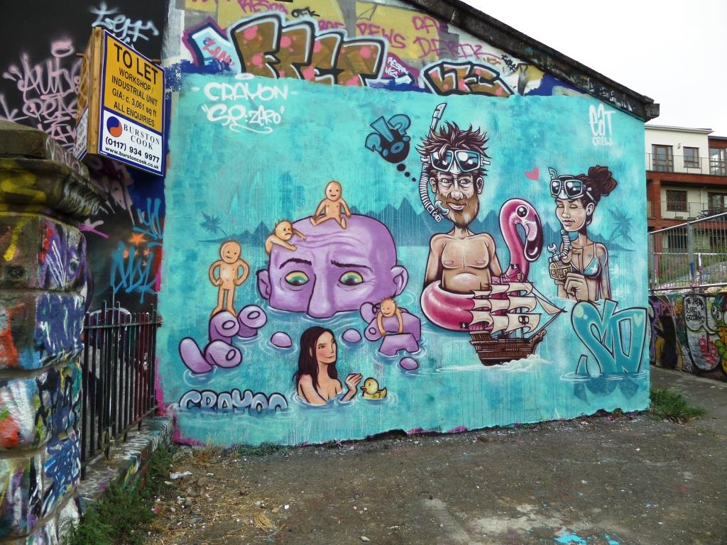 Kid Crayon and SPZero, Dean Lane, Bristol, June 2017