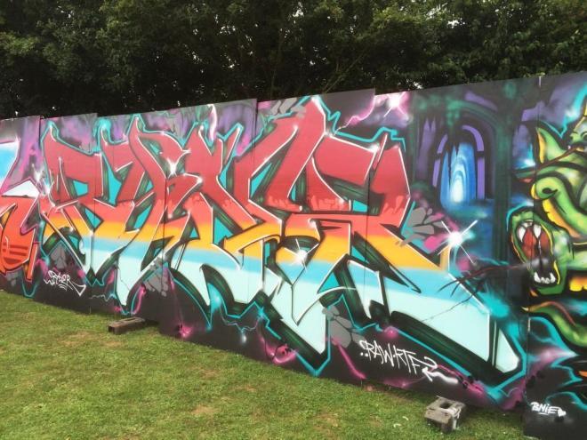 Ryder and T Rex, Upfest, Bristol, July 2016