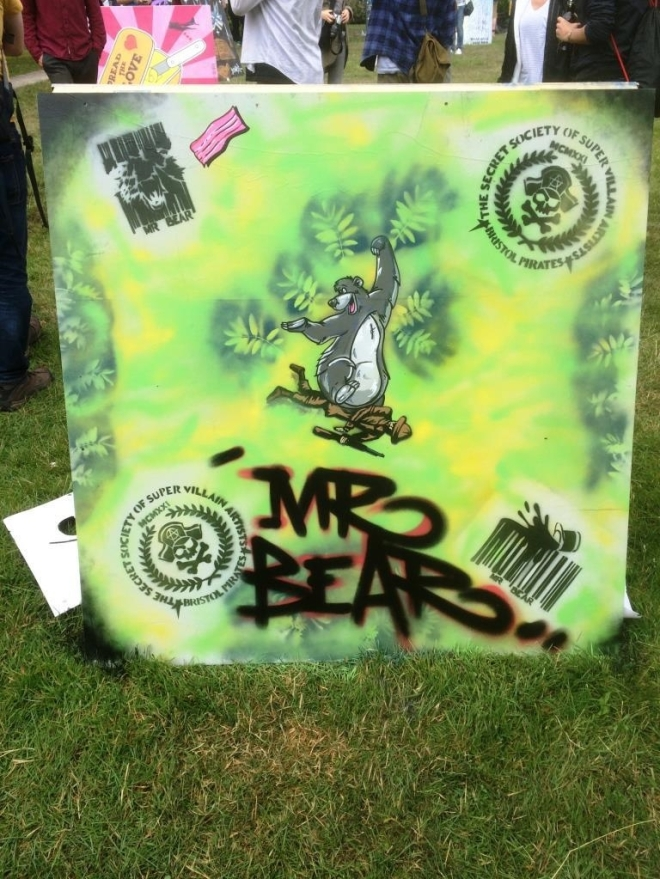 Mr Bear, Upfest, Bristol, July 2016