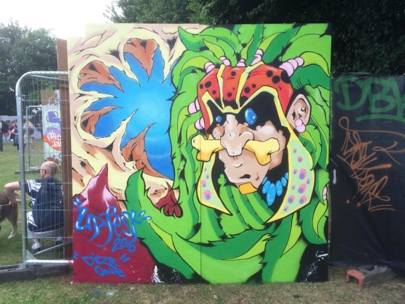 Cize One, Upfest, Bristol, July 2017