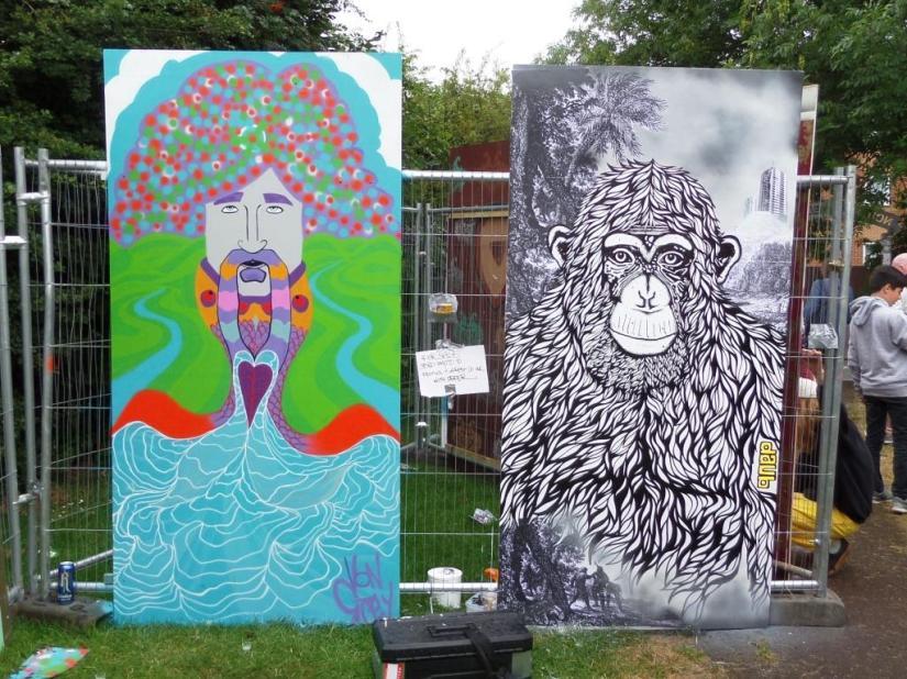 Von Grey and Daub, Upfest, Bristol, July 2016