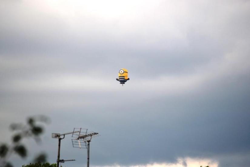 Minion Balloon, Bristol, Haiku