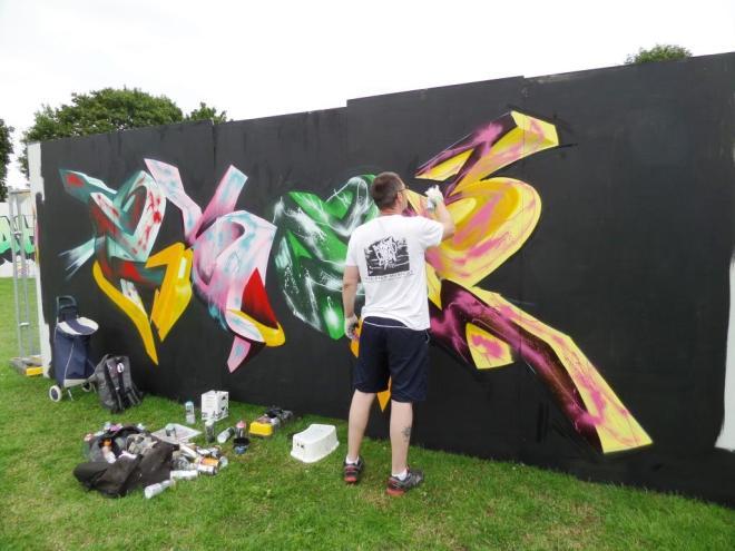 Ebee, Upfest, Bristol, July 2017
