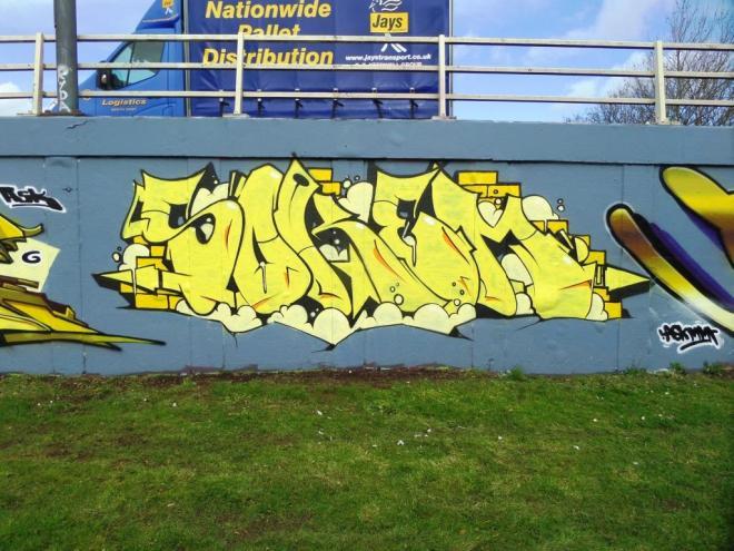 Soker, M32 roundabout, Bristol, March 2016