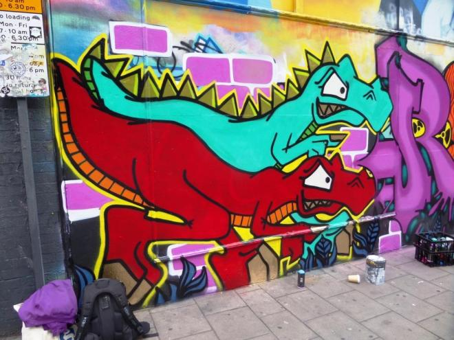 Ryder and T-Rex, Stokes Croft, Bristol, July 2017