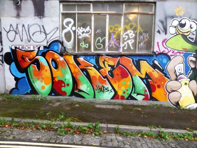 Soker, Cheo and Deamze, Church Road, Bristol, September 2017