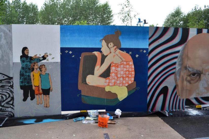 Joan Aguilo, Upfest, Bristol, July 2017