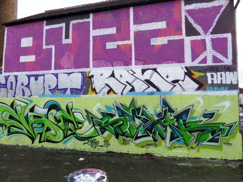 Sled One and Smak, Dean Lane, Bristol, January 2016