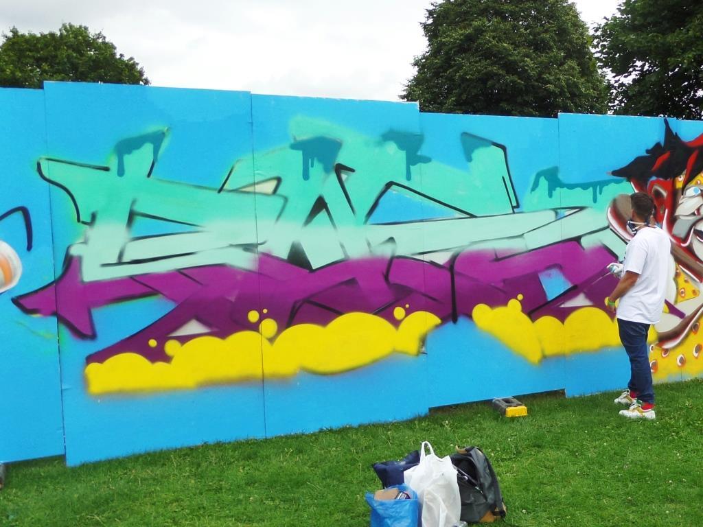Rusk, Upfest, Bristol, July 2017