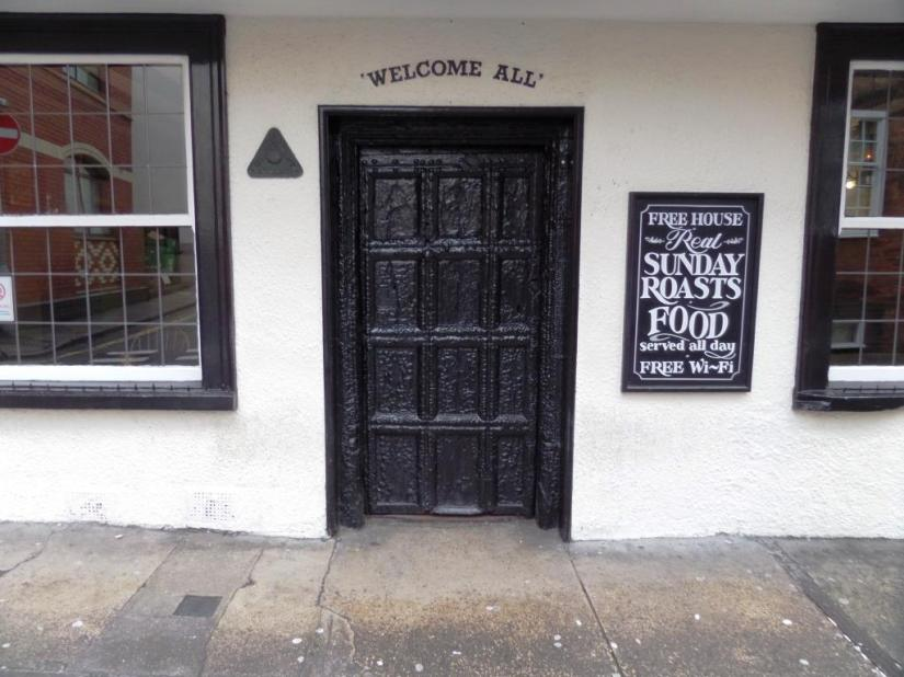 Hatchet Inn door, Frogmore Street, Bristol
