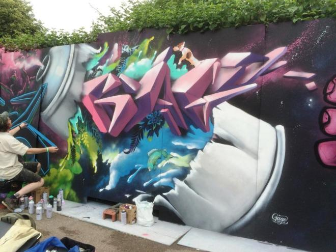 Gage Graphics, Upfest, Bristol, July 2016