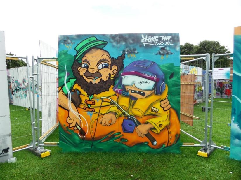 Shane Ha and Niall O'Lochlainn, Upfest, Bristol, July 2017