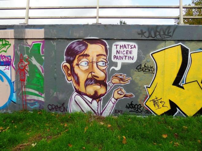 Kid Crayon and Lopes, M32 roundabout, Bristol, October 2017